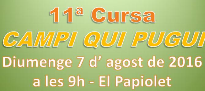 Classificació Cursa Campi Qui Pugui 2016
